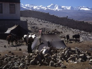 Tibet - Everest in the left background